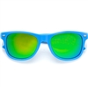 Colored Reflective Mirror Wayfarer Style Sunglasses