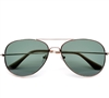 Classic Iconic Glass Lens Aviator Sunglasses #5010