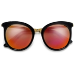 Oversized 56mm Horn Rim Exaggerated Cat Eye Sunglasses