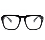 Large Flat Top Clear Lens Fashion Glasses#8782
