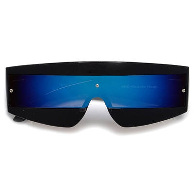 fb9084fd05d26 Futuristic Tron Shield Wrap Around Costume Sunglasses