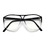 Large 60mm Light Weight Plastic Thin Frame Aviator Glasses