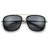 Vintage Motorcycle Style Sunglasses with Side Cup Frame