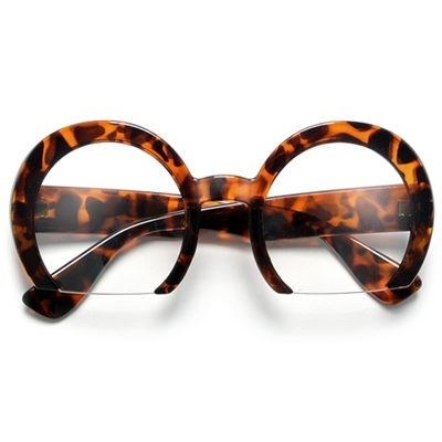 fca52671bfa Designer Inspired Peculiar Round Rimless Clear Lens Fashion Glasses