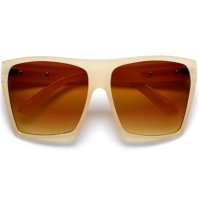 9160c35a27 Large Oversized Retro Fashion Square Flat Top Sunglasses