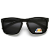 Men's Polarized Anti-Glare Lens Keyhole Bridge Square Frame Shades