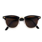 Iconic Clubmaster Half Frame Sunglasses