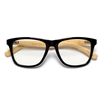 ECO Friendly Genuine Bamboo Temple Arm Wayfarer