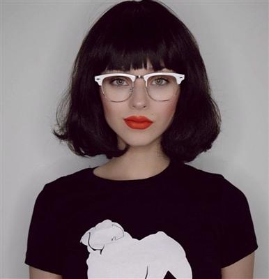White Half Frame Glasses : Retro Inspired Half Frame Semi-Rimless White/Gold Clear ...