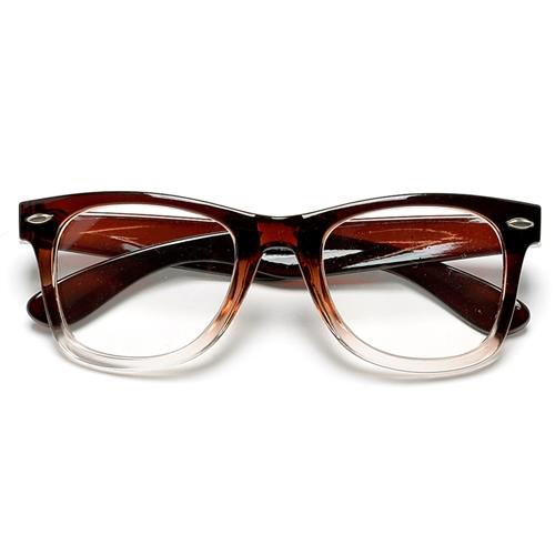 20481a6ae193f 50mm Clear Lens Nerdy Ombre Frame Wayfarer Glasses