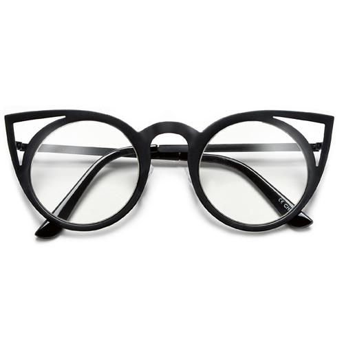 4dfdfe232d Modern Cat Eye Silhouette Ultra Light Weight Metal Frame Sunglasses